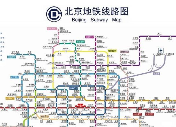 北京地铁新线路图以及地铁线路附近的楼盘
