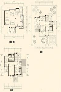 美泉园墅独栋D-A1户型 4室3厅
