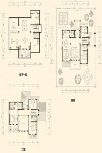 美泉园墅独栋D-B1户型 4室3厅