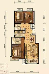 1.6期小高层B户型2#3#18#楼105㎡三居
