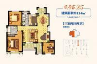 18#19#楼L5户型114㎡三居