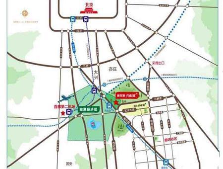 万庄新空港孔雀城交通图