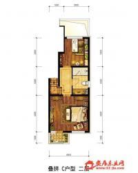 森林家园孔雀城叠拼,C户型.2层