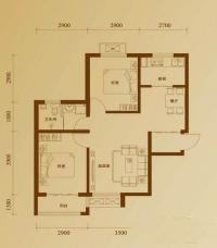 二期12号楼标准层Q户型