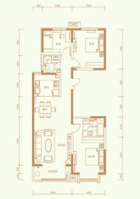 1501#楼标准层A-1户型