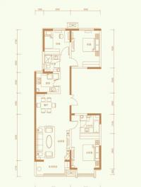 1502#楼标准层B-1户型