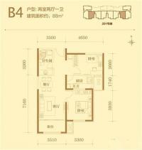201#楼标准层B4户型