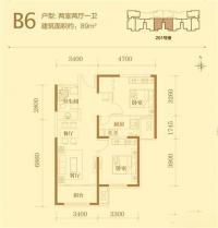 201#楼标准层B6户型