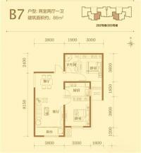 203#楼标准层B7户型
