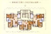 2号楼2-20层标准层平面图