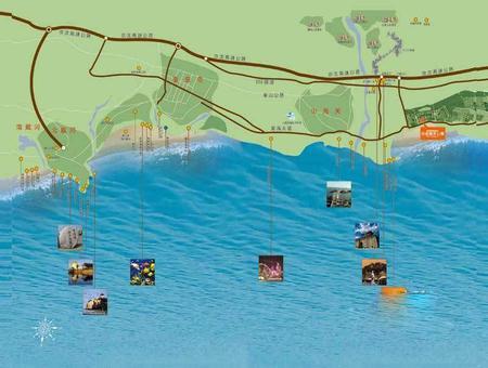 当代东戴河白金海MOMA交通图