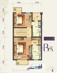 b5-4户型5室3厅5卫1厨268.00㎡