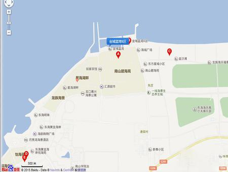 金域蓝湾B区交通图