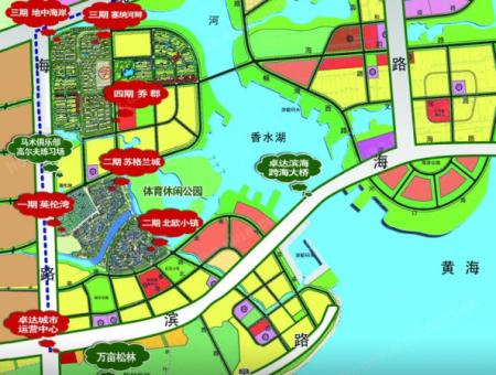 卓达香水海三期塞纳河畔交通图